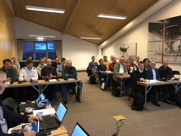 People at at conference room in Svalbard