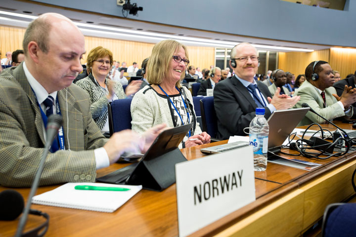 The Norwegian delegation at IMO's MSC-meeting
